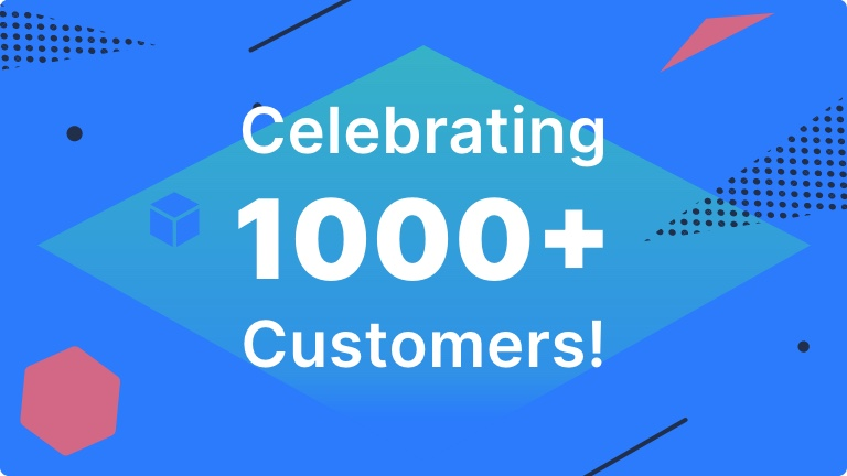 1000 customers - Blog Banner